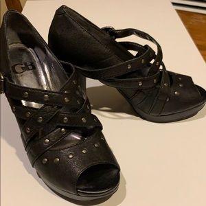 Gianni Bini platform heels. Strappy w/metal studs